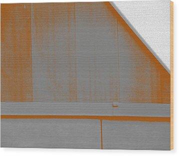 Simple Geometry - 3 Wood Print by Lenore Senior