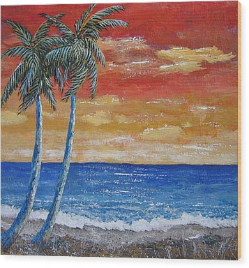 Wood Print featuring the painting Simple Pleasure by Suzanne Theis