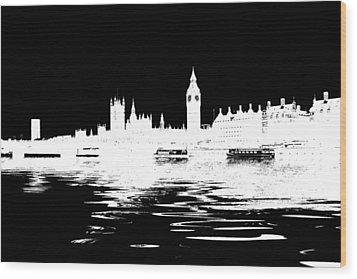 Simple Politics Wood Print by Sharon Lisa Clarke