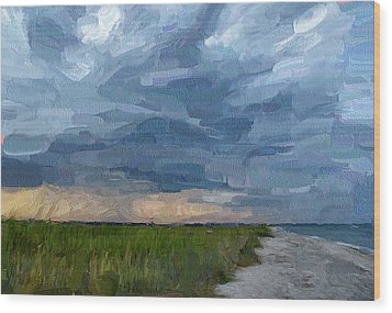 Simple Seaside Landscape Wood Print by Yury Malkov