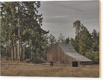 Simpler Times 2 Wood Print by Randy Hall
