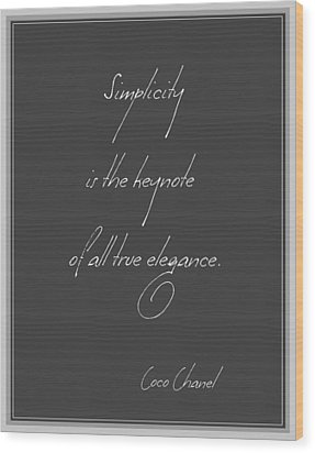 Simplicity And Elegance Wood Print