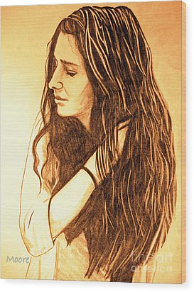 Wood Print featuring the drawing Simplicty by Justin Moore
