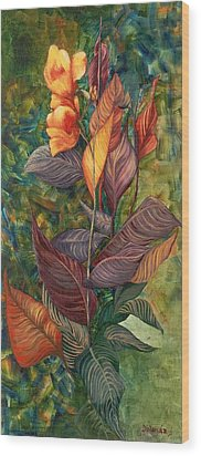 Wood Print featuring the painting Simply Flowers by Yolanda Raker