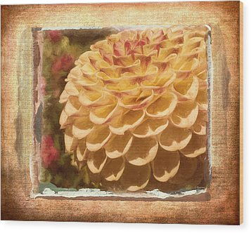 Simply Moments - Flower Art Wood Print by Jordan Blackstone