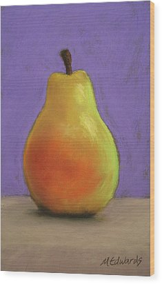 Simply Pear Wood Print by Marna Edwards Flavell