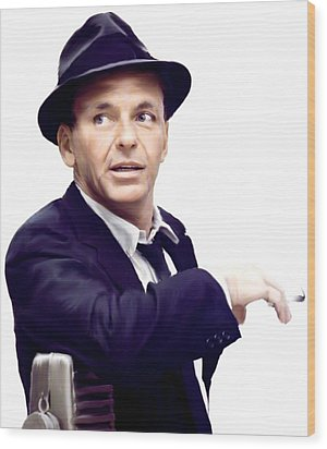 Sinatra.  Frank Sinatra Wood Print
