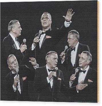 Sinatra In Concert Wood Print