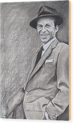 Sinatra - The Voice Wood Print