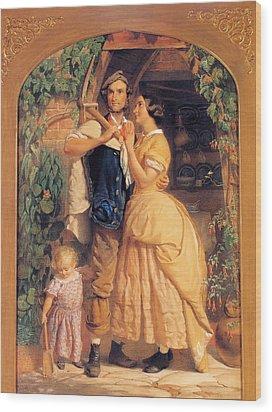 Sinews Old England Wood Print by George Elgar Hicks