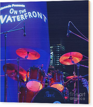 Singapore Drum Set 01 Wood Print by Rick Piper Photography
