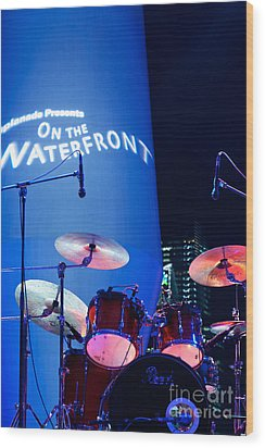 Singapore Drum Set 03 Wood Print by Rick Piper Photography