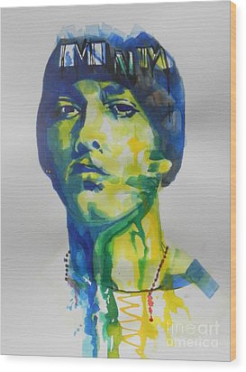 Rapper  Eminem Wood Print