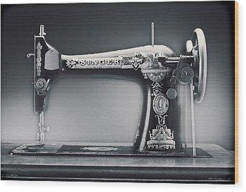 Singer Machine Wood Print by Kelley King