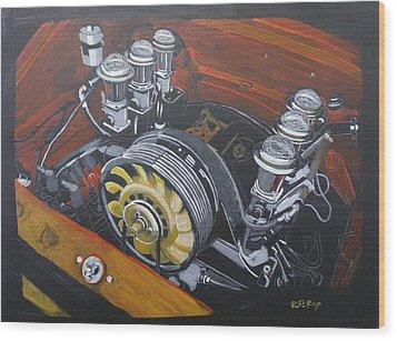 Singer Porsche Engine Wood Print