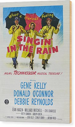 Singin In The Rain Wood Print by Georgia Fowler