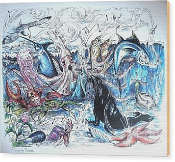 Singing Beach Wood Print by James Oliver