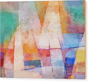 Singing Colors Wood Print by Lutz Baar