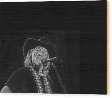 Singing Willie Wood Print