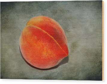 Wood Print featuring the photograph Single Peach 2 by Linda Segerson