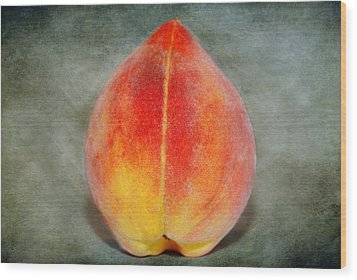 Wood Print featuring the photograph Single Peach by Linda Segerson