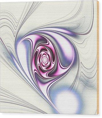 Single Rose Wood Print by Anastasiya Malakhova