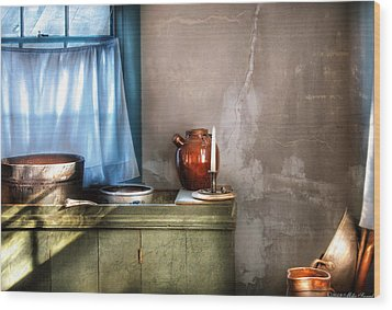 Sink - The Jug And The Window Wood Print by Mike Savad