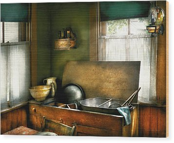 Sink - The Kitchen Sink Wood Print by Mike Savad