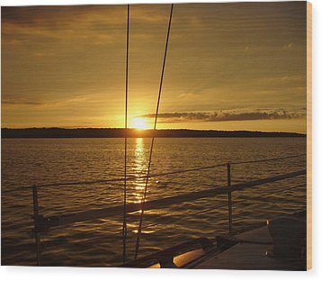 Wood Print featuring the photograph Stay Golden by Deena Stoddard