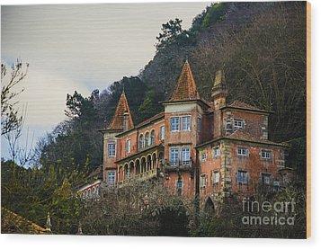Sintra Mansion Wood Print by Deborah Smolinske