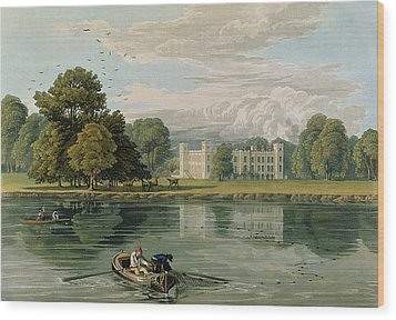 Sion House, Engraved By Robert Havell Wood Print by William Havell