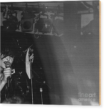 Wood Print featuring the photograph Siouxsie by Steven Macanka