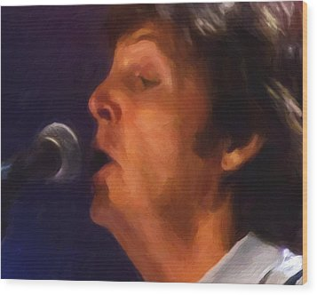 Sir Paul Wood Print by Michael Pickett