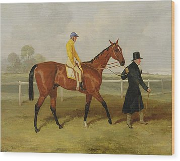 Sir Tatton Sykes Leading In The Horse Sir Tatton Sykes With William Scott Up Wood Print by Harry Hall