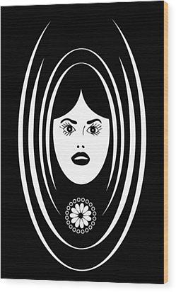 Siren Wood Print by Frank Tschakert