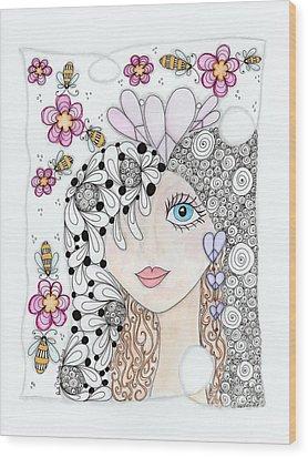 Sissy Wood Print by Paula Dickerhoff