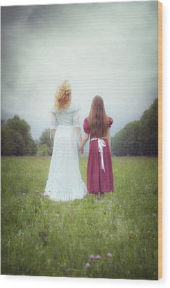 Sisters Wood Print by Joana Kruse