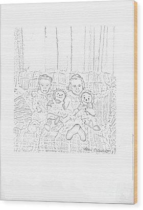 Sisters Wood Print by Rebecca Christine Cardenas