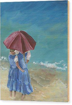 Sisters Wood Print by Susan Richardson