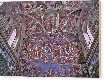 Wood Print featuring the photograph Sistine Chapel by Allen Beatty