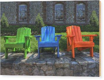 Sit Back Wood Print