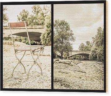 Sit Down... Black Wood Print by Hannes Cmarits