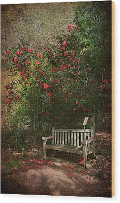 Sit With Me Here Wood Print by Laurie Search