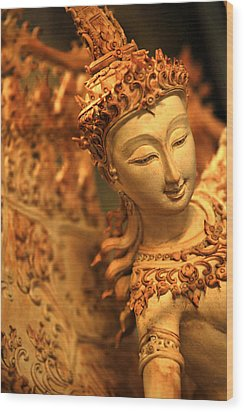 Sita Wood Print by Suradej Chuephanich