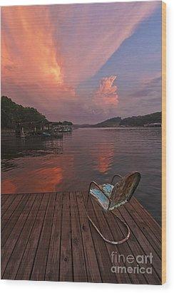 Sittin' On The Dock Wood Print