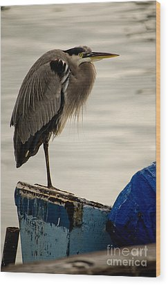 Sittin' On The Dock Of The Bay Wood Print by Donna Greene