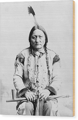 Sitting Bull Wood Print by War Is Hell Store
