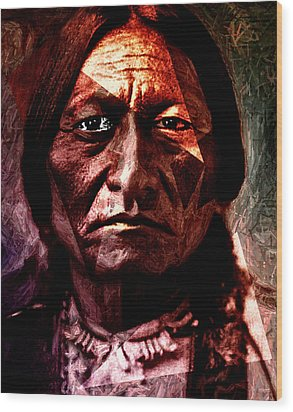 Sitting Bull - Warrior - Medicine Man Wood Print