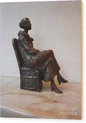 Sitting Girl Wood Print by Nikola Litchkov