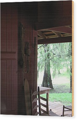 Wood Print featuring the photograph Sitting On The Back Porch by John Glass